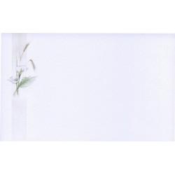 Carte Remerciement Deces Fleurs Arums Blancs Et Epis De Ble