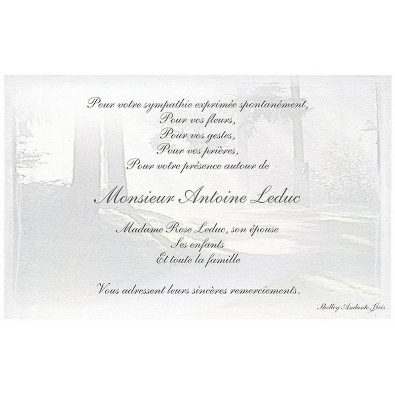 Carte Remerciement Deces Deuil Condoleances Obseques Buromac 670 049