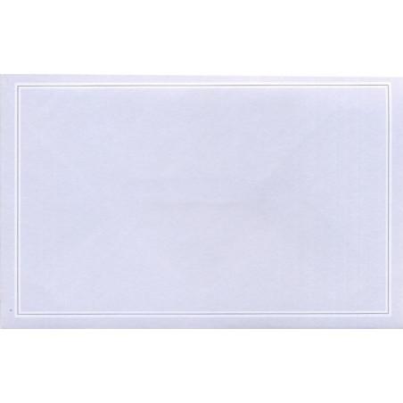 Carte remerciement décès blanche avec arums blancs et épis de blé Buromac 670.083