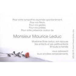 Cartes Remerciement Deces Condoleances Deuil Funerailles Pas Cher